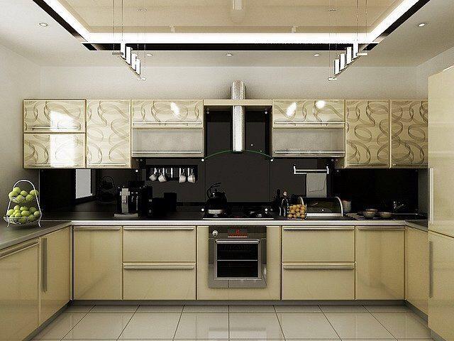 Дизайн кухни буквой п фото